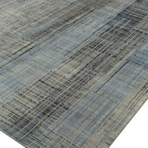 Rug# 31196, Jaipur designer rug, Abstract modern with 100% Hand spun NZ wool pile, size 250x170 cm SRB-701Steel BlueClassic Gray (4)